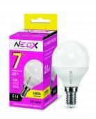 Лампа светодиодная LED-ШАР 7Вт 230В Е14 3000К 560Лм NEOX, Лампы LED-ШАР