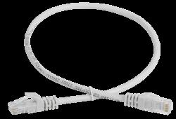 ITK Коммутационный шнур (патч-корд) кат.5Е UTP 05м серый, кабель витая пара