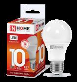 Лампа светодиодная LED-A60-VC 10Вт 230В Е27 6500К 900Лм IN HOME, Лампы LED-A