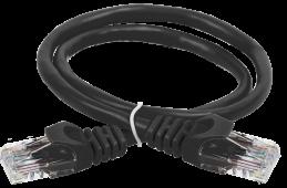 ITK Коммутационный шнур (патч-корд), кат.5Е UTP, 0,5м, черный, кабель витая пара