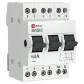 Трехпозиционный переключатель 3P 63А EKF Basic, Выключатели нагрузки