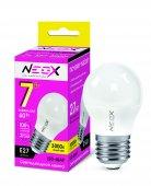 Лампа светодиодная LED-ШАР 7Вт 230В Е27 3000К 560Лм NEOX, Лампы LED-ШАР
