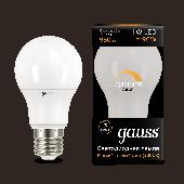 Лампа светодиодная LED-A60-dim 11Вт E27 3000К 960Лм диммируемая Black GAUSS, Лампы LED-A