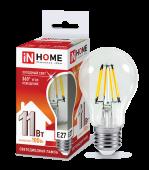 Лампа светодиодная LED-A60-deco 11Вт 230ВЕ27 6500К 990Лм прозрачная IN HOME, Лампы LED-A