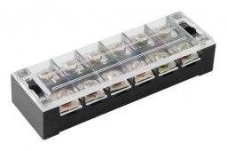 Блок зажимов БЗ-ТВ 45-6 45А 6пар карболит, Соединительные изолирующие зажимы