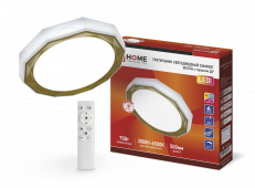 Светильник светодиодный COMFORT SIESTA 75Вт 230В 3000-6500K 6000Лм 500x100мм с пультом ДУ IN HOME, Потолочные светильники