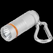 Фонарь-брелок KL 61S LED батарейки в комплекте алюминиевый СЕРЫЙ IN HOME, Фонари светодиодные
