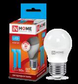 Лампа светодиодная LED-ШАР-VC 11Вт 230В Е27 4000К 990Лм IN HOME, Лампы LED-ШАР