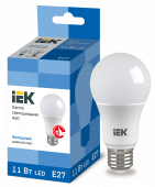 Лампа светодиодная LED-A60 ECO 11Вт 230В 6500К E27 IEK, Лампы LED-A