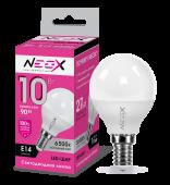 Лампа светодиодная LED-ШАР 10Вт 230В Е14 6500К 800Лм NEOX, Лампы LED-ШАР