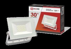 Прожектор светодиодный СДО-7 30Вт 230В 6500К IP65 белый IN HOME, прожекторы