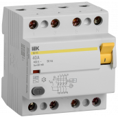 Устройство защитного отключения ВД1-63 4Р 40А 30мА IEK, Устройства защитного отключения