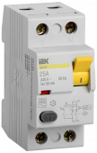 Устройство защитного отключения ВД1-63 2Р 25А 30мА IEK, Устройства защитного отключения