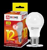 Лампа светодиодная LED-A60-VC 12Вт 230В Е27 3000К 1080Лм IN HOME, Лампы LED-A