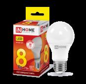 Лампа светодиодная LED-A60-VC 8Вт 230В Е27 3000К 720Лм IN HOME, Лампы LED-A