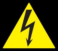 "Самоклеящаяся этикетка символ ""Молния"" 85х85х85 мм, Знаки электробезопасности"