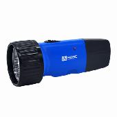 Фонарь ручной аккумуляторный MLA 01-C 5LED 120Lm 6ч 1 режим, з/у 230В СИНИЙ IN HOME, Фонари светодиодные