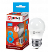 Лампа светодиодная LED-ШАР-VC 8Вт 230В Е27 4000К 720Лм IN HOME, Лампы LED-ШАР
