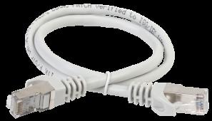 ITK Коммутационный шнур (патч-корд), кат.6A S/FTP, LSZH, 1м, серый, кабель витая пара