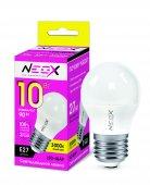 Лампа светодиодная LED-ШАР 10Вт 230В Е27 3000К 800Лм NEOX, Лампы LED-ШАР