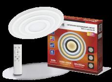 Светильник светодиодный COMFORT GEO-2 100Вт 230В 3000-6500К 7000Лм 500x55мм с пультом ДУ IN HOME, Потолочные светильники