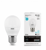 Лампа светодиодная LED-ШАР 8Вт E27 4100K 540Лм Elementary GAUSS, Лампы LED-ШАР