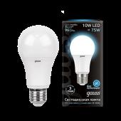 Лампа светодиодная LED-A60 10Вт E27 4100K 920Лм Black GAUSS, Лампы LED-A
