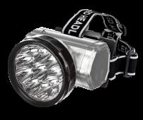 Фонарь налобный аккумуляторный HLA 04M 2W 10LED 200Lm 10ч 2 режима, з/у 230В МЕТАЛЛИК IN HOME, Фонари светодиодные