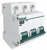 Автоматический выключатель DEKraft ВА-101 3P 16А 4,5кА характеристика С, Автоматические выключатели модульные