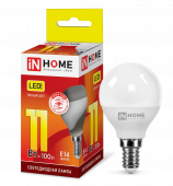 Лампа светодиодная LED-ШАР-VC 11Вт 230В Е14 3000К 990Лм IN HOME, Лампы LED-ШАР
