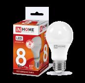 Лампа светодиодная LED-A60-VC 8Вт 230В Е27 6500К 720Лм IN HOME, Лампы LED-A