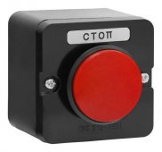 Пост кнопочный ПКЕ 212-1 У3 красный гриб IP40 (пластик), Кнопочные посты