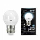 Лампа светодиодная LED-ШАР 9.5Вт E27 4100K 950Лм Black GAUSS, Лампы LED-ШАР