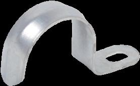 Скоба металлическая однолапковая d16-17мм IEK, Крепления для труб