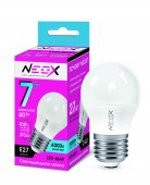 Лампа светодиодная LED-ШАР 7Вт 230В Е27 4000К 560Лм NEOX, Лампы LED-ШАР