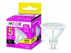 Лампа светодиодная LED-JCDR 5Вт 230В GU5.3 3000К 400Лм NEOX, Лампы LED-JCDR