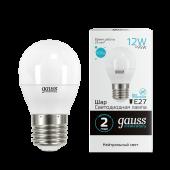 Лампа светодиодная LED-ШАР 12Вт E27 4100K 920Лм Elementary GAUSS, Лампы LED-ШАР