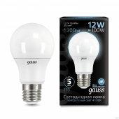 Лампа светодиодная LED-A60 12Вт E27 4100K 1200Лм Black GAUSS, Лампы LED-A