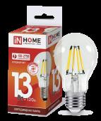 Лампа светодиодная LED-A60-deco 13Вт 230В Е27 6500К 1170Лм прозрачная IN HOME, Лампы LED-A