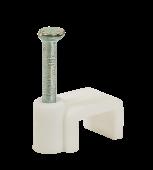 Скоба плоская СП-06 6мм (100штук/упаковка) IN HOME , Скобы пластиковые