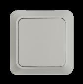 Выключатель одноклавишный BOLLETO белый накладной 7021 IN HOME, Выключатели накладные