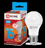 Лампа светодиодная LED-A60-VC 15Вт 230В Е27 4000К 1350Лм IN HOME, Лампа LED-A