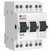 Трехпозиционный переключатель 3P 16А EKF Basic, Выключатели нагрузки