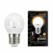 Лампа светодиодная LED-ШАР 9.5Вт E27 3000K 890Лм Black GAUSS, Лампы LED-ШАР