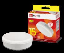 Лампа светодиодная LED-GX53-VC 15Вт 230В3000К 1350Лм IN HOME, Лампы LED-GX