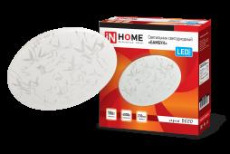Светильник светодиодный серии DECO 18Вт 230В 4000К 1170лм 230х55мм БАМБУК IN HOME, Потолочные светильники