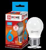 Лампа светодиодная LED-ШАР-VC 6Вт 230В Е27 4000К 540Лм IN HOME, Лампы LED-ШАР
