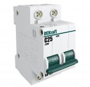 Автоматический выключатель DEKraft ВА-101 2P 32А 4,5кА характеристика С, Автоматические выключатели модульные