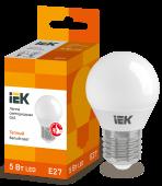 Лампа светодиодная LED-ШАР ECO G45 5Вт 230В 3000К E27 IEK, Лампы LED-ШАР