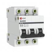 Выключатель нагрузки 3P 25А ВН-29 EKF Basic, Выключатели нагрузки